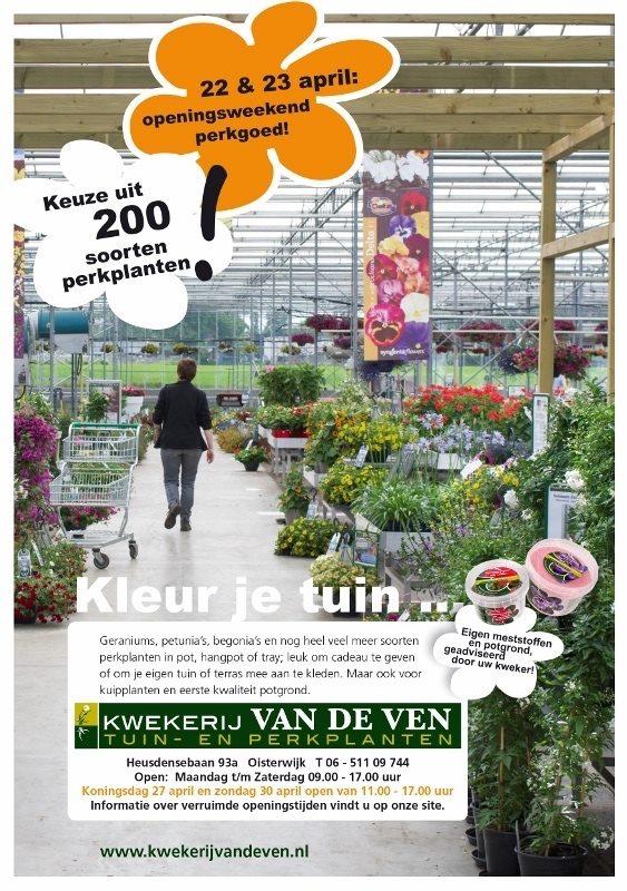 openingsweekend 22 en 23 april perkplanten kwekerij van de ven 563x800